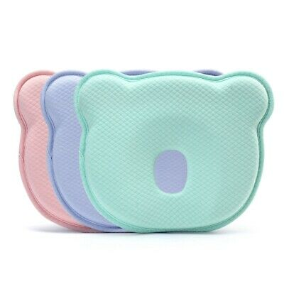 Baby Pillow Soft Infant Head Pillow Memory Foam Sleeping Cushion To Prevent D3T5
