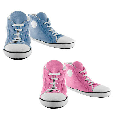 Slippers Childrens Trainer Sneakers Hi-tops - Pink and Blue