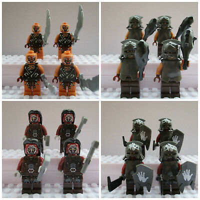 Lord Of The Rings The Hobbit Orc Army Soldiers 16 Mini Figures Use With lego set