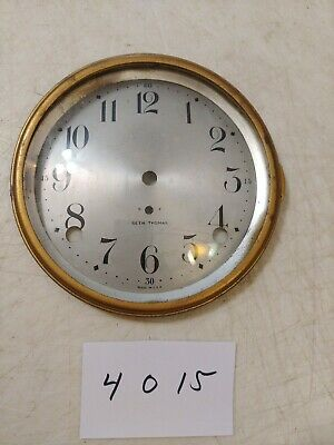 Seth Thomas Tambour Mantle Clock Dial And Bezel With Glass From 89 L Movement