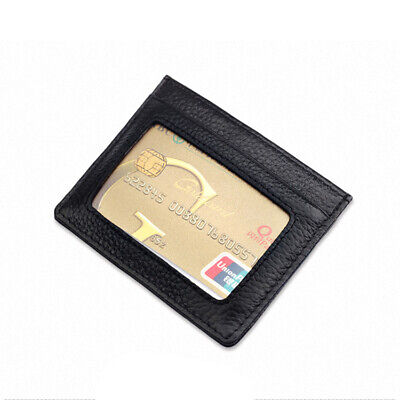 Men's Wallet RFID Blocking Leather Mini Wallets Credit Card Holders