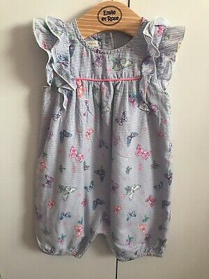 baby girls monsoon butterfly romper outfit suit age 12-18 months Twins??