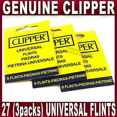 27x GENUINE CLIPPER LIGHTER FLINT Universal Flints Fits All Types of Lighters
