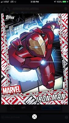 Topps Marvel Collect Reserve T7 Motion Iron-Man Ironman 287cc