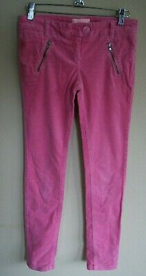 NEXT Pink Cotton Cord Trousers with Front & Back Pockets Age 12 years