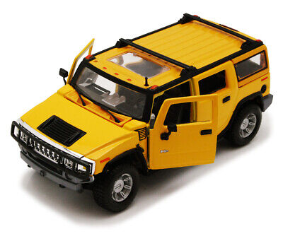2003 Hummer H2 SUV w/ Sunroof Yellow Maisto 31231 1/27 Scale Diecast Car