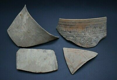 Mixed lot of 4 ancient Bronze Age Indus Valley culture pottery fragments