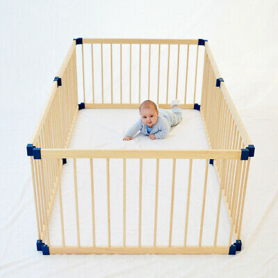8 Panel Adjustable Baby Safety Playpen Wooden fence Cage Simple Interlocking