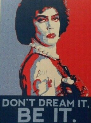 "Rocky Horror Picture Show Sticker Decal 3"" x 3.3/4"" Don't Dream It Be It"
