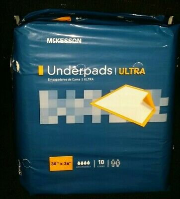 100 MCKESSON HEAVY/SEVERE ULTRA UNDERPADS》Incontinence》Dog Wee Pee Piddle Pads