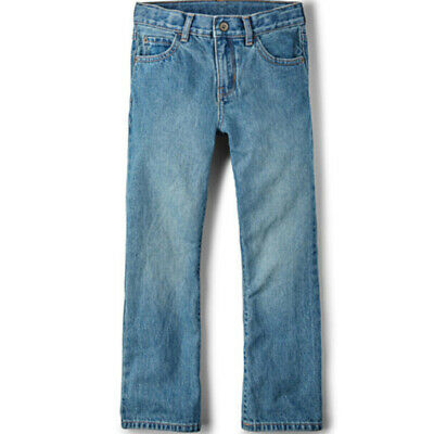 Basic Bootcut Jeans Boys Light Stone Wash Size 18S NWT Childrens Place