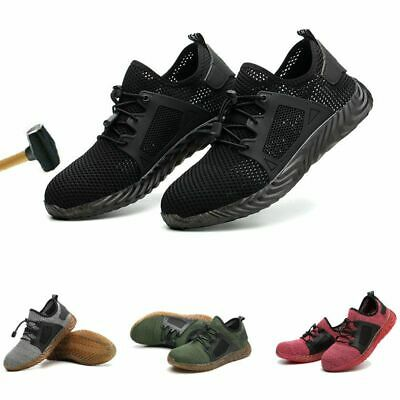 Men Women Safety Shoes Boots Steel Toe Trainers Work Hiking Shoes Sports UK