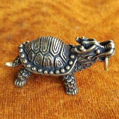 Collection Chinese Brass copper *dragon turtle* Lucky pendant