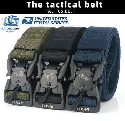 "1.5""Tactical Belt Military Nylon Webbing Belt with Magnetic Quick-Release Buckle"