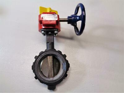 12 Gear Operator Flanged NIBCO FD-5765-5 Series Ductile Iron Butterfly Valve with EPDM Encapsulated Ductile Iron Disc
