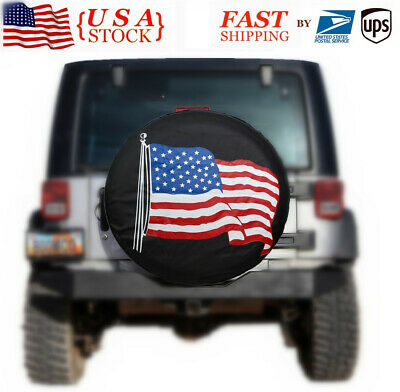"""Spare Tire Cover 17/"""" For  SUV Car Wheel Rhino 4X4 PVC Leather Generic"""