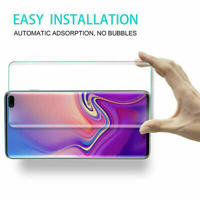 BLACK FOR Samsung Galaxy S8 PLUS  NUGLAS Tempered Glass Screen Protector