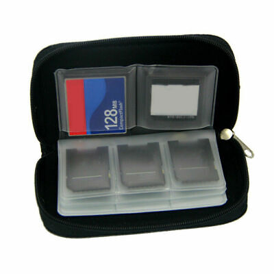 22-Slot SD SDHC Memory Card Case Holder Storage SIM CF Card Carrying Bag
