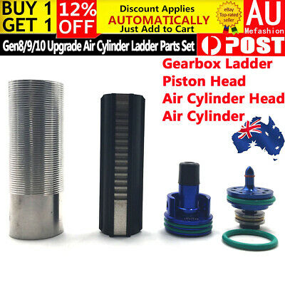 Upgrade Gearbox Air Cylinder Ladder Plunger Head Nozzle For Gen 8 9 10 Blaster