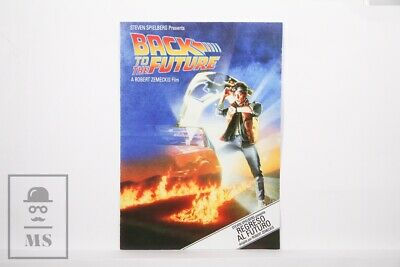 Original 1985 Back to the Future Movie Brochure - Zemeckis - Michael J Fox