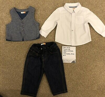 John Lewis Three Piece Smart Outfit 3-6 Months Boys