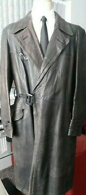 """WW2 1940's BRANDED GERMAN OFFICER LEATHER COAT 38/40"""""""
