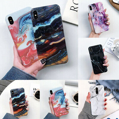 Case For iPhone XR XS Max 8 7 6 Plus Shockproof Marble Soft Silicone Phone Cover