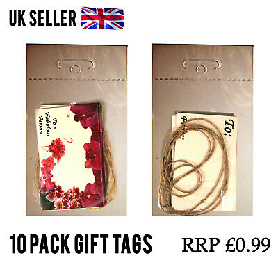 100 Packs FLAMINGO ORCHIDS GIFT TAGS CARD LABEL + STRING JOBLOT WHOLESALE RESELL