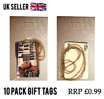 100 Packs LIFES BEAUTIFUL GIFT TAGS CARD LABEL + STRING JOBLOT WHOLESALE RESELL