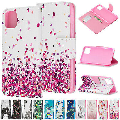 For iPhone 11 Pro Max Case 7 8 XS XR Pattern Magnetic Leather Card Wallet Cover