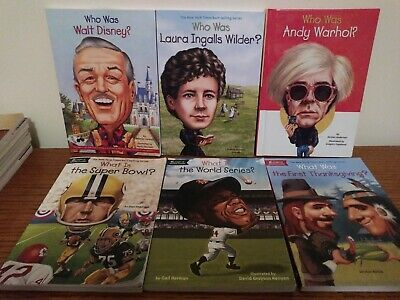 Lot of 6 WHO/WHAT/WHERE Was Biography History Chapter Non Fiction books