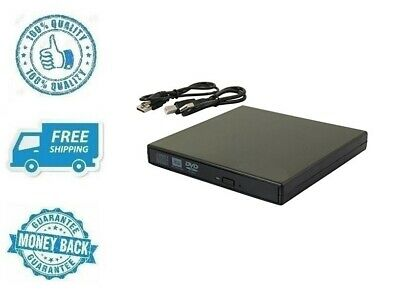 New Black External DVD CD Drive USB 2.0 Ultra Slim Portable Burner Player Writer