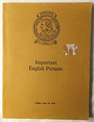 Christie's Important English Pictures And Paintings 18 June 1976 Catalogue