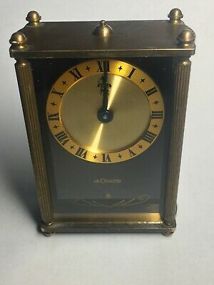 Original Vintage Swiss LeCoultre 8 Day Musical Alarm Miniature Table Clock