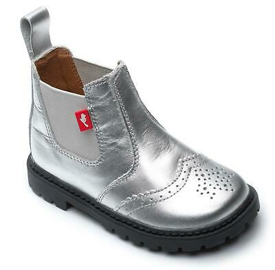 Chipmunks Riley Silver Boy/Girl Kids Infants/Junior Dealer Chelsea Brogue Boots