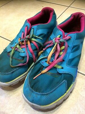 USA Pro Girls Womens Green Turquoise Running Shoes Trainers Size 5