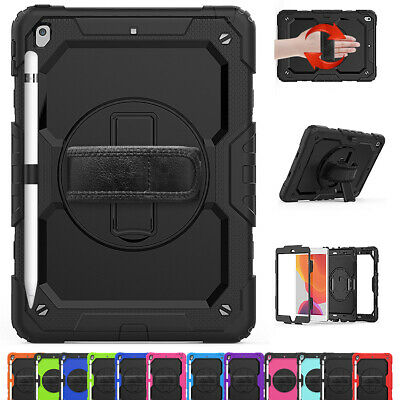 For Apple iPad 10.2 Inch 2019 7th Gen Heavy Duty Armor Case Handle Stand Cover