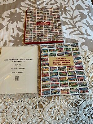 2002 Commemorative Stamp Yearbook USPS Souvenir Mint Set Album with Stamps
