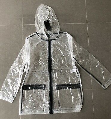 New Transparent Clear Rainmac New Look Raincoat UK 14-15 Yrs 164-170 Raincoat