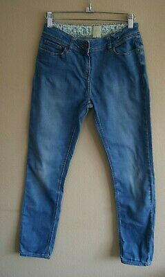 Boden Light Blue Cotton Denim Jeans with Pockets Age 12 years