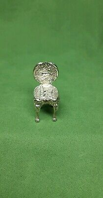 Antique Miniature  Chair  Edwardian Sterling  Silver