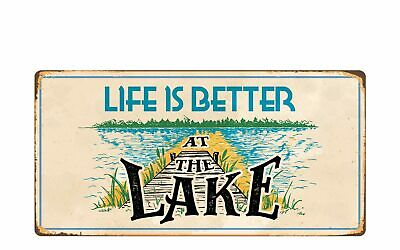 """957HS Life Is Better On The Patio 5/""""x10/"""" Aluminum Hanging Novelty Sign"""