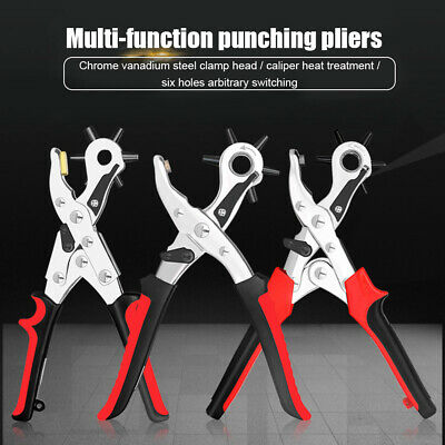 Multifunction Punching Pliers Belt Puncher Leather Hole Punch Drilling Tool