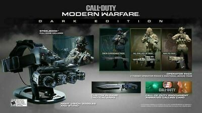 Call Of Duty: Modern Warfare Dark Edition with Night Vision [PS4] NEW!! RARE