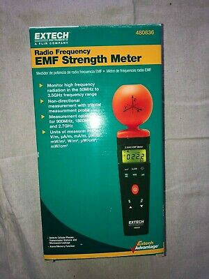 Extech 480836 Rf Emf Strength Meter High Frequency Measurement 50Mhz To 3.5Ghz N