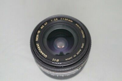 Quantaray Tech-10 Mx Af 1:2.8 F=24Mm Multi-Coated Lens For Sony/Minolta