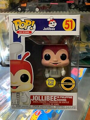 Funko Pop! AD ICON #51 JOLLIBEE With Barong (glow In The Dark) Exclusive NEW!