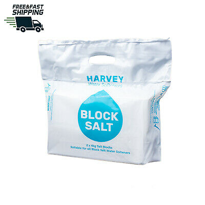 Harvey's Block Salt Compatible With All Water Softener Machines  Pack - 2 Blocks