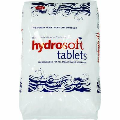 SALT TABLETS | 25KG BAG | HYDROSOFT | Water Softener | FCC Food Grade 99.9% Pure