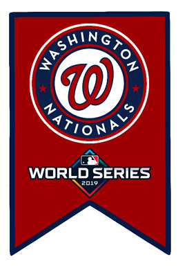 Washington Nationals Wooden 2019 World Series Pennant/Ornament 5.75 x 3.75 inch
